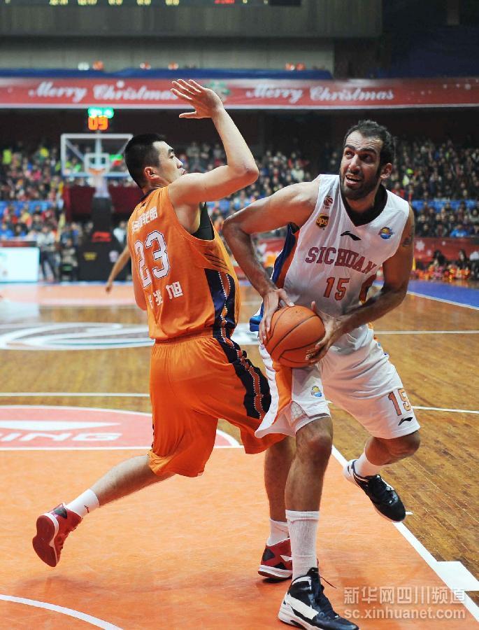 篮球CBA:四川爱家168胜上海玛吉斯