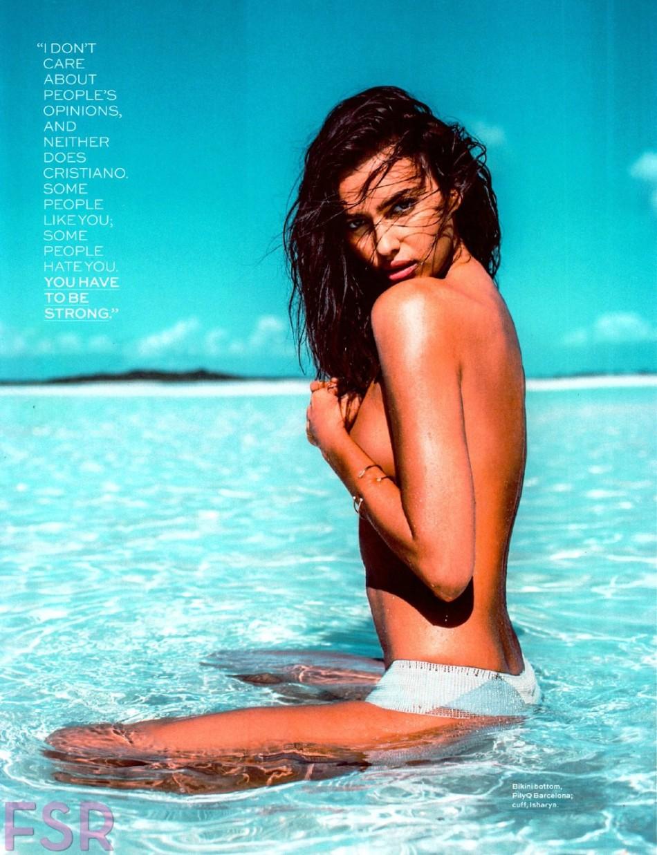 俄罗斯内衣模特伊莉娜·莎伊克海边泳装大片展现完美肌肤.