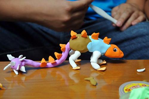 手工粘土恐龙制作