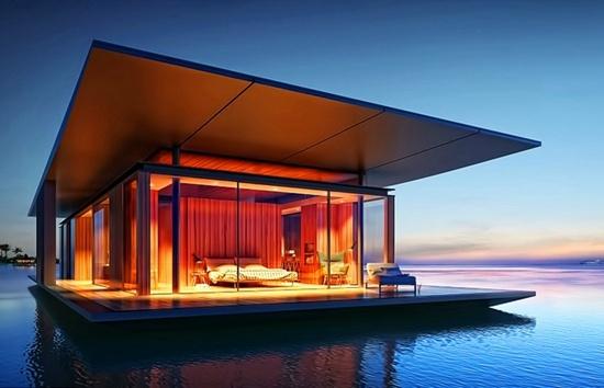 水上全景浮动房屋