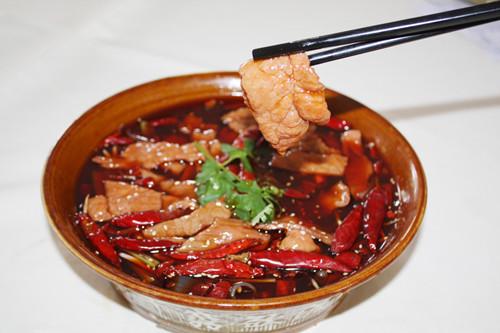 四川美食古典风素材