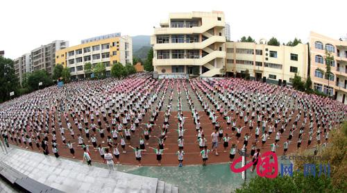 广元实验中学风景图