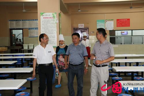 四川省学校安全检查组到汶川一小检查工作