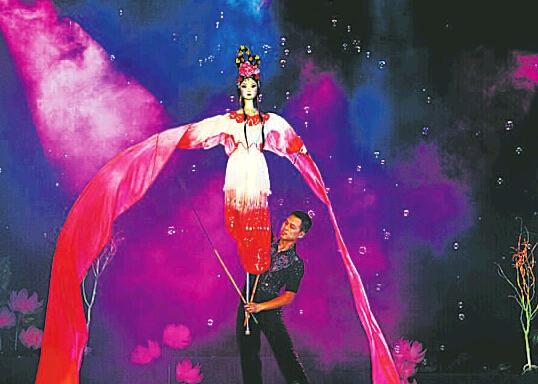 川北大木偶首次登上非洲舞台