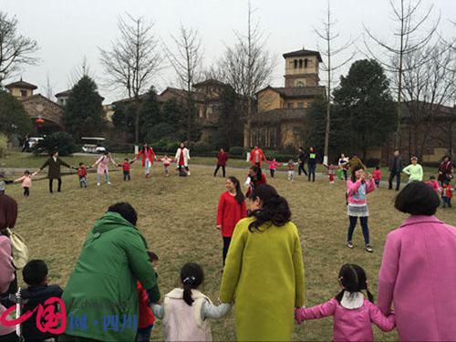 蒲江县北街幼儿园开展户外亲子活动