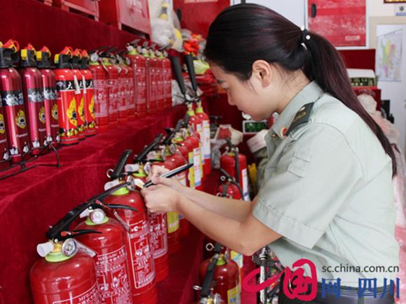 射洪消防大队推进消防产品整治工作