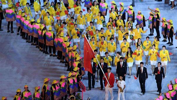 中国奥运代表团入场