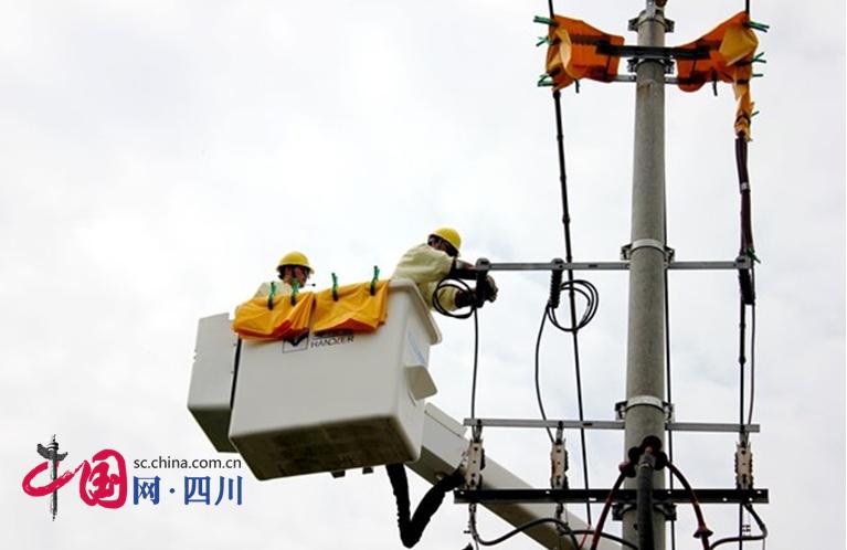 国网遂宁供电公司完成首次乡镇带电作业
