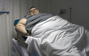 世界最胖男子体重达千斤 欲通过手术减重100斤