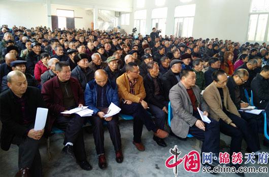 南充阆中柏垭镇2017年农村工作会议召开