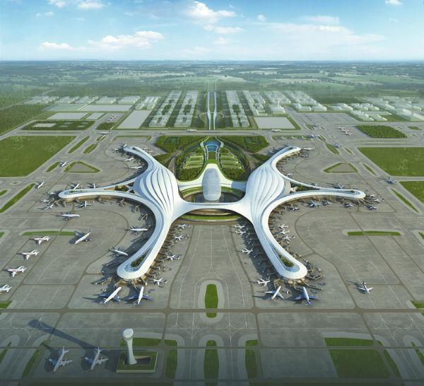 鄂州机场功能区规划图