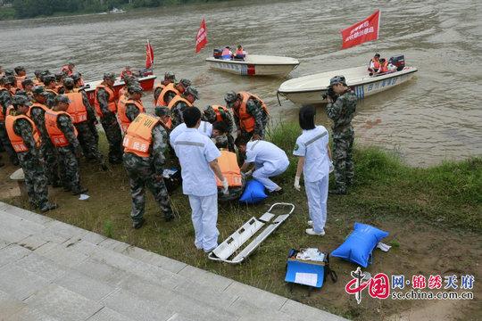 平昌县人民医院积极参加2017年巴中市防汛应急救援演练