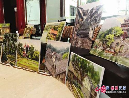 寻找最美映像 重庆知名画家走进南充蓬安