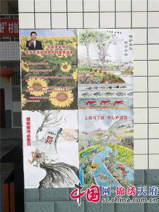 张贴环保手绘图